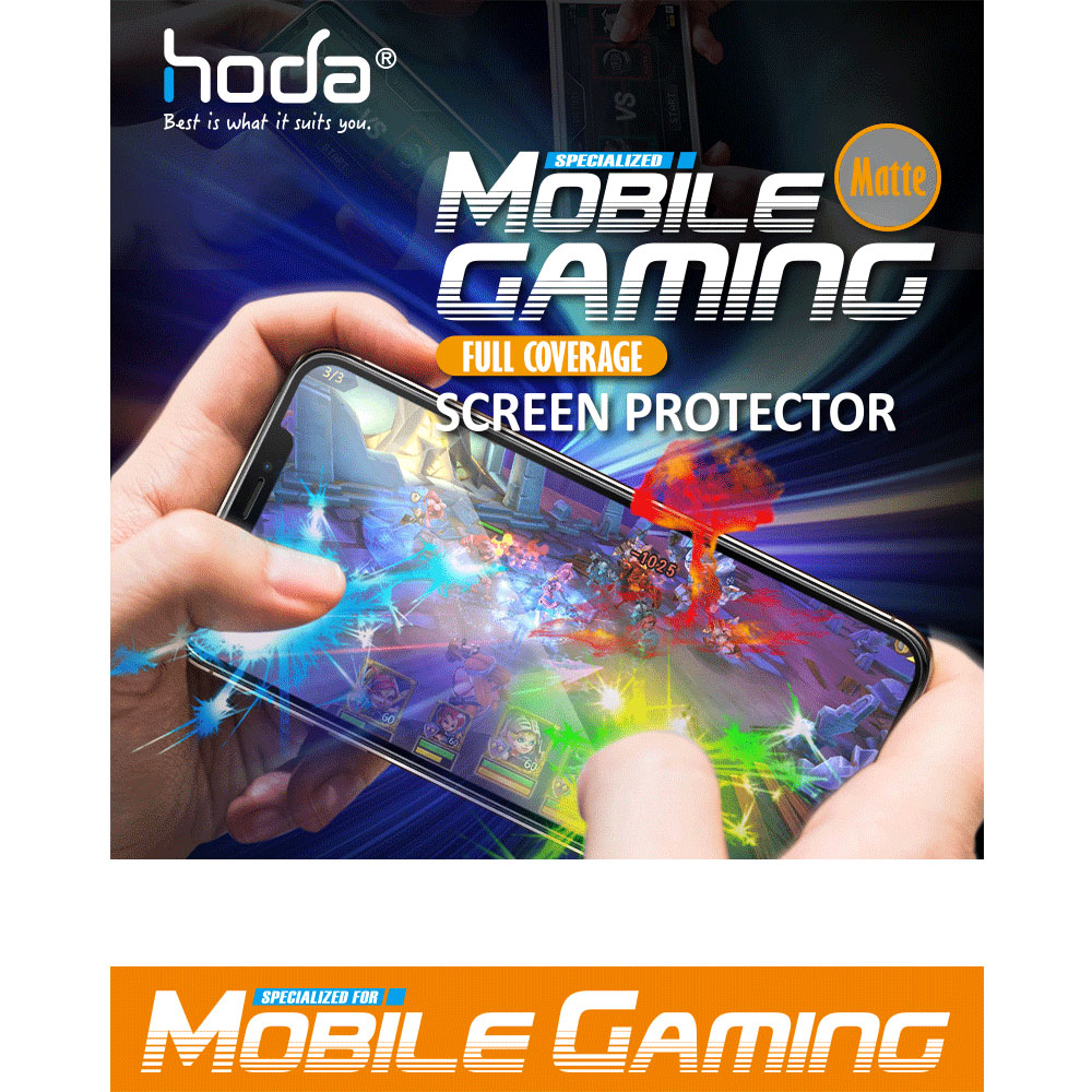 Picture of Apple iPhone 12 6.1 Screen Protector | Hoda 0.33mm Full Coverage Tempered Glass Screen Protector Design for Gaming Gamer for Apple iPhone 12 iPhone 12 Pro 6.1 (Matte)