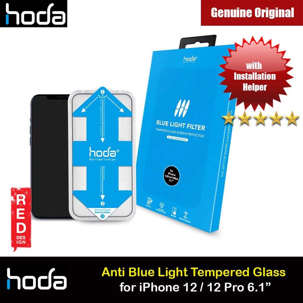 Picture of Hoda 0.33mm Full Coverage Tempered Glass Screen Protector Eye Care Protection Tempered Glass  for Apple iPhone 12 iPhone 12 Pro 6.1 Anti Blue Light Blue Ray (with Helper Installation Kit) iPhone Cases - iPhone 12, iPhone 12 Pro max, iPhone 11, iPhone 11 Pro Max, iPhone XS Max, iPhone X,iPhone SE,Galaxy Note 20 Ultra ,iPhone 8 Plus Cases Malaysia,iPad Air Pro Cases and a wide selection of Accessories in Malaysia, Sabah, Sarawak and Singapore.