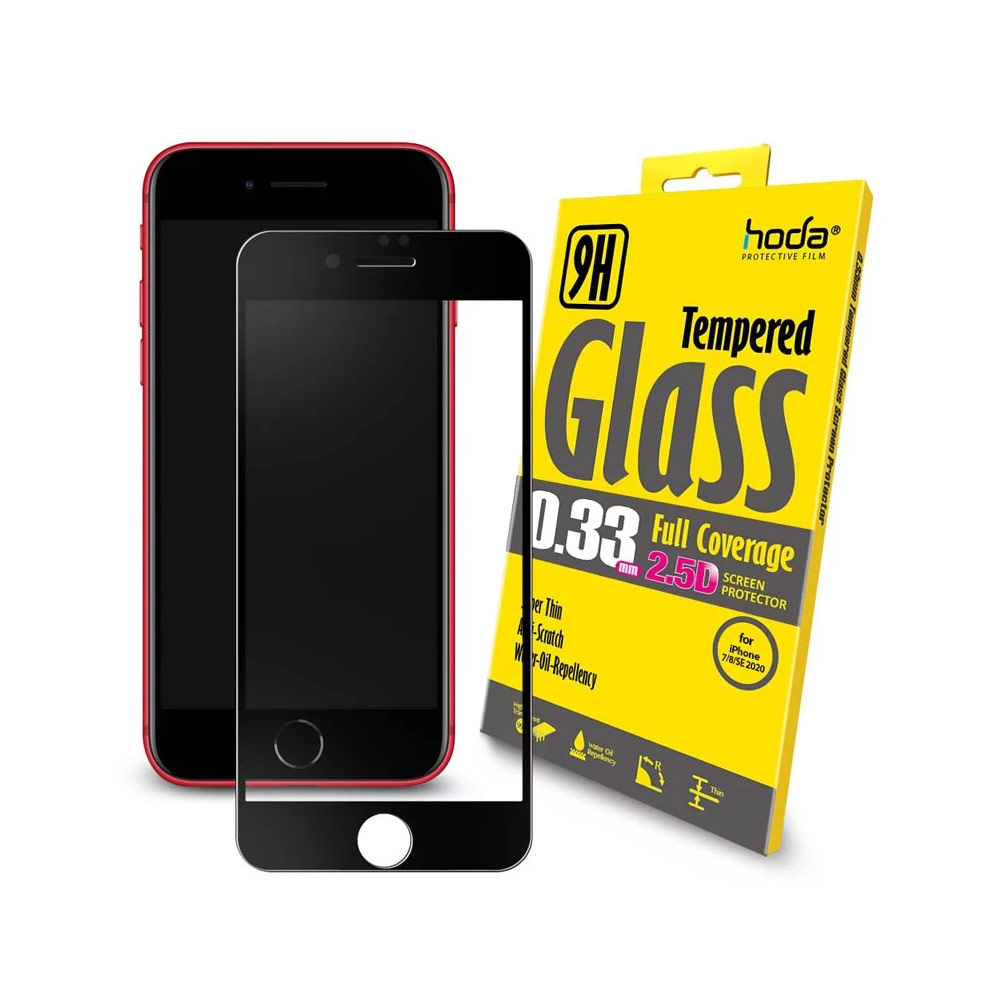 Picture of Hoda 0.33mm Full Coverage Tempered Glass Screen Protector for Apple iPhone 7 iPhone 8 iPhone SE 2020 (Black) Apple iPhone 7 4.7- Apple iPhone 7 4.7 Cases, Apple iPhone 7 4.7 Covers, iPad Cases and a wide selection of Apple iPhone 7 4.7 Accessories in Malaysia, Sabah, Sarawak and Singapore