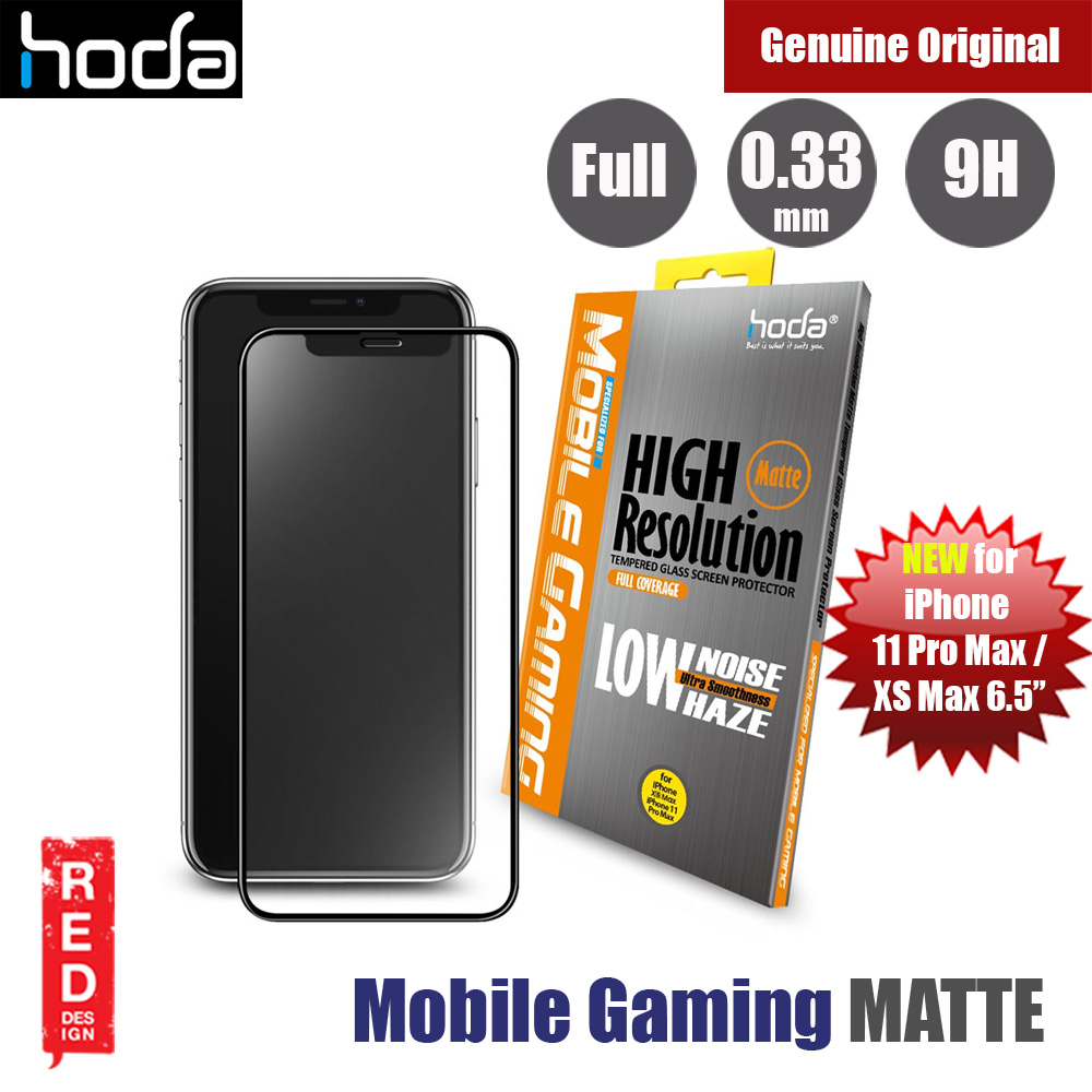 Picture of Hoda 0.33mm Mobile Gaming High Resolution Low Noise Haze Ultra Smoothness Full Coverage Anti Glare Anti Finger Print Matte Tempered Glass Screen Protector for Apple iPhone 11 Pro Max 6.5  (Black) Apple iPhone 11 Pro Max 6.5- Apple iPhone 11 Pro Max 6.5 Cases, Apple iPhone 11 Pro Max 6.5 Covers, iPad Cases and a wide selection of Apple iPhone 11 Pro Max 6.5 Accessories in Malaysia, Sabah, Sarawak and Singapore