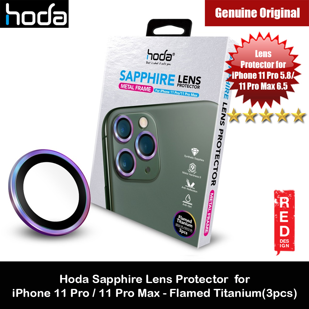 Picture of Hoda Sapphire Lens Protector for iPhone 11 Pro Max 6.5 iPhone 11 Pro 5.8  (Flamed Titanium) Apple iPhone 11 Pro 5.8- Apple iPhone 11 Pro 5.8 Cases, Apple iPhone 11 Pro 5.8 Covers, iPad Cases and a wide selection of Apple iPhone 11 Pro 5.8 Accessories in Malaysia, Sabah, Sarawak and Singapore
