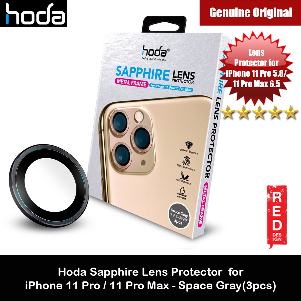 Picture of Hoda Sapphire Lens Protector for iPhone 11 Pro Max 6.5 iPhone 11 Pro 5.8  (Space Gray) Apple iPhone 11 Pro 5.8- Apple iPhone 11 Pro 5.8 Cases, Apple iPhone 11 Pro 5.8 Covers, iPad Cases and a wide selection of Apple iPhone 11 Pro 5.8 Accessories in Malaysia, Sabah, Sarawak and Singapore