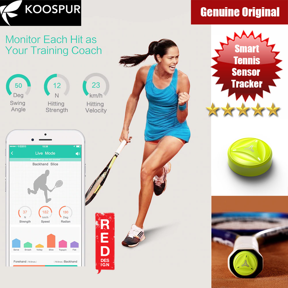 Picture of Coollang Smart Tennis Forehand Backhand Smash Swing Speed Sensor Tracker Motion Analyzer Bluetooth 4.0 Sport Tracker Compatible with Android IOS Smartphone (Yellow) Red Design- Red Design Cases, Red Design Covers, iPad Cases and a wide selection of Red Design Accessories in Malaysia, Sabah, Sarawak and Singapore