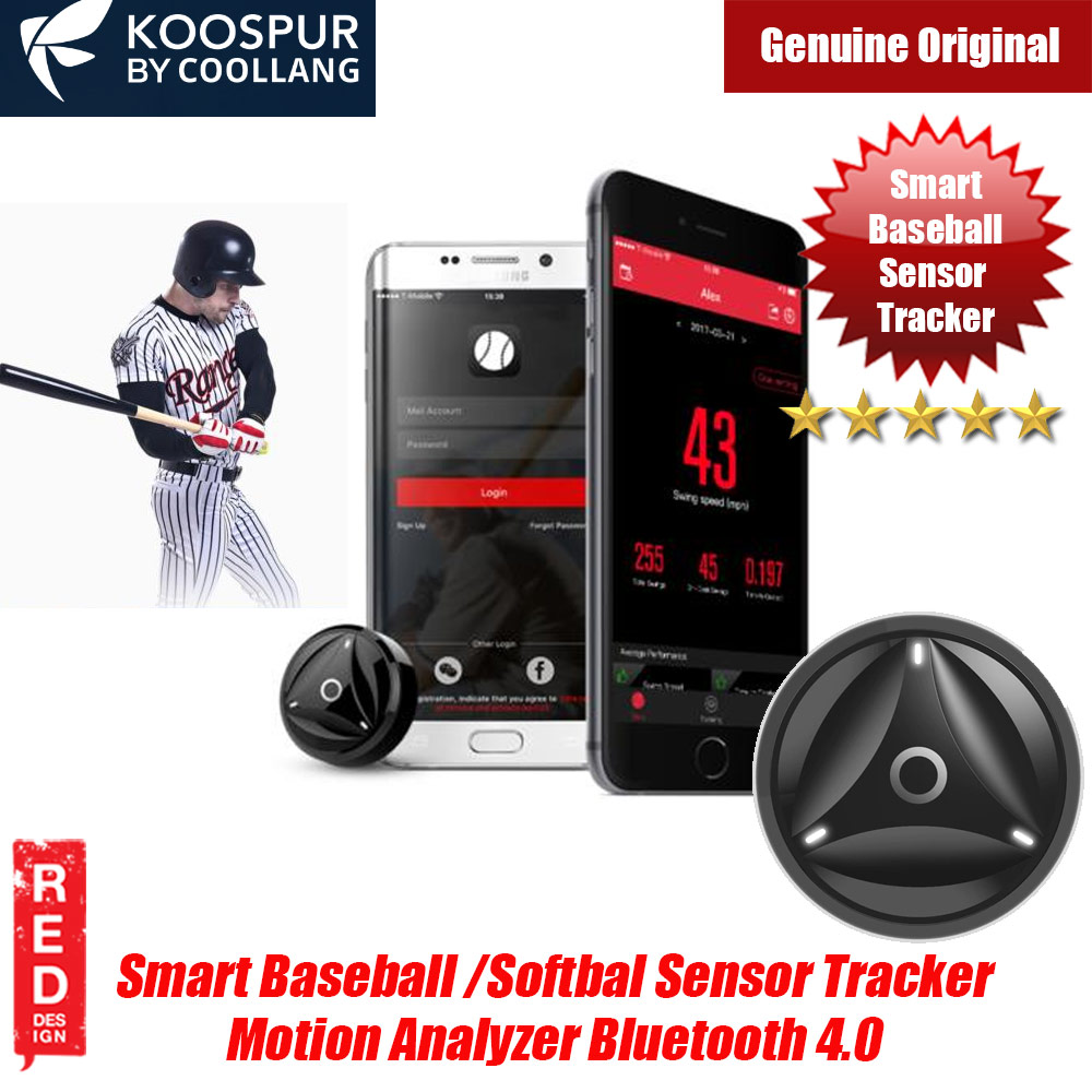 Picture of KOOSPUR COOLLANG  Baseball Softball Swing Speed Sensor Tracker Motion Analyzer Bluetooth 4.0 Sport Tracker Compatible with Android IOS Smartphone (Black) Red Design- Red Design Cases, Red Design Covers, iPad Cases and a wide selection of Red Design Accessories in Malaysia, Sabah, Sarawak and Singapore