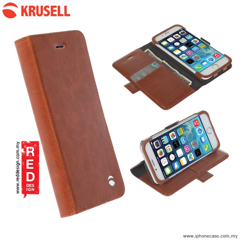 Picture of Krusell Ekero Folio Wallet Flip Stand Case for iPhone 6 iPhone 6S 4.7 - Cognac Apple iPhone 6S 4.7- Apple iPhone 6S 4.7 Cases, Apple iPhone 6S 4.7 Covers, iPad Cases and a wide selection of Apple iPhone 6S 4.7 Accessories in Malaysia, Sabah, Sarawak and Singapore