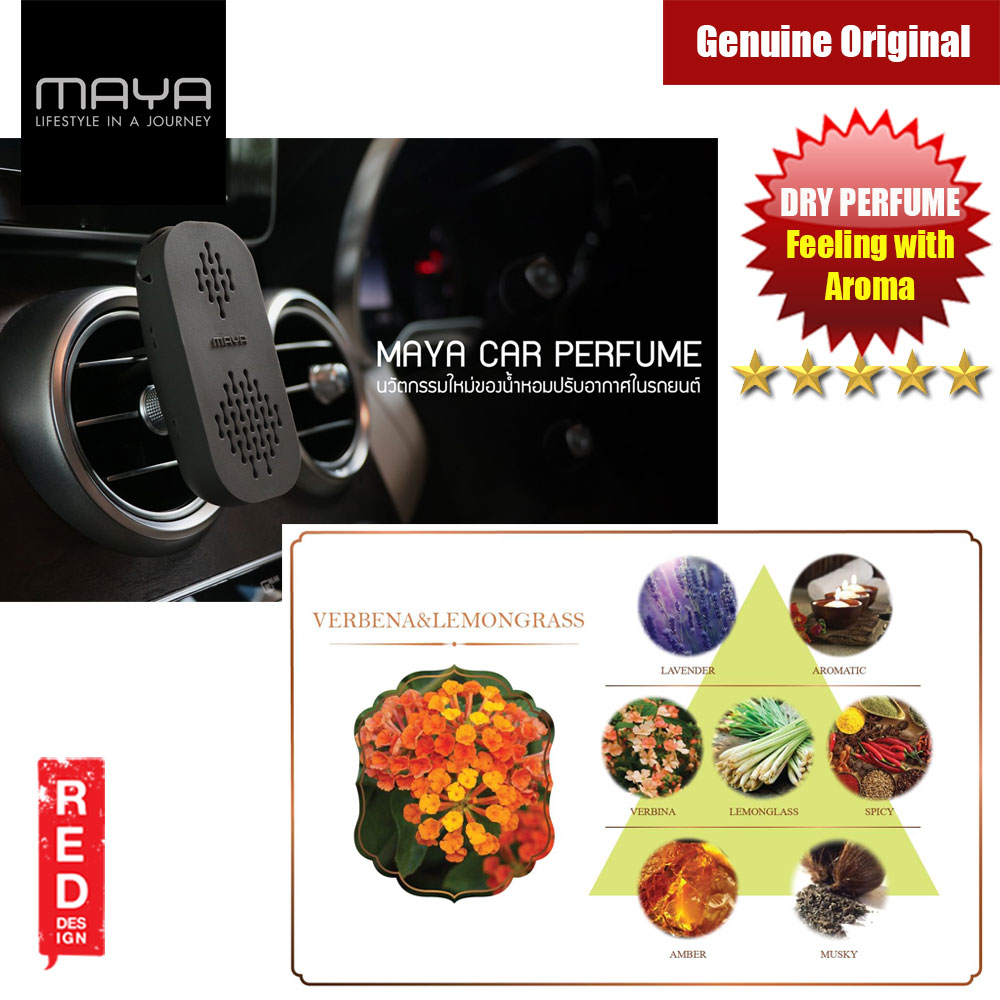 Picture of Maya Premium Car Perfume Innovation Dry Perfume Car Air Freshener with Aroma Fragrance (Verbena and Lemongrass) Red Design- Red Design Cases, Red Design Covers, iPad Cases and a wide selection of Red Design Accessories in Malaysia, Sabah, Sarawak and Singapore