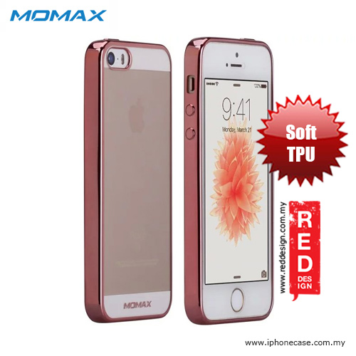 Picture of Momax Splendor Series Soft TPU Case for iPhone SE iPhone 5 iPhone 5S - Rose Gold Apple iPhone SE- Apple iPhone SE Cases, Apple iPhone SE Covers, iPad Cases and a wide selection of Apple iPhone SE Accessories in Malaysia, Sabah, Sarawak and Singapore