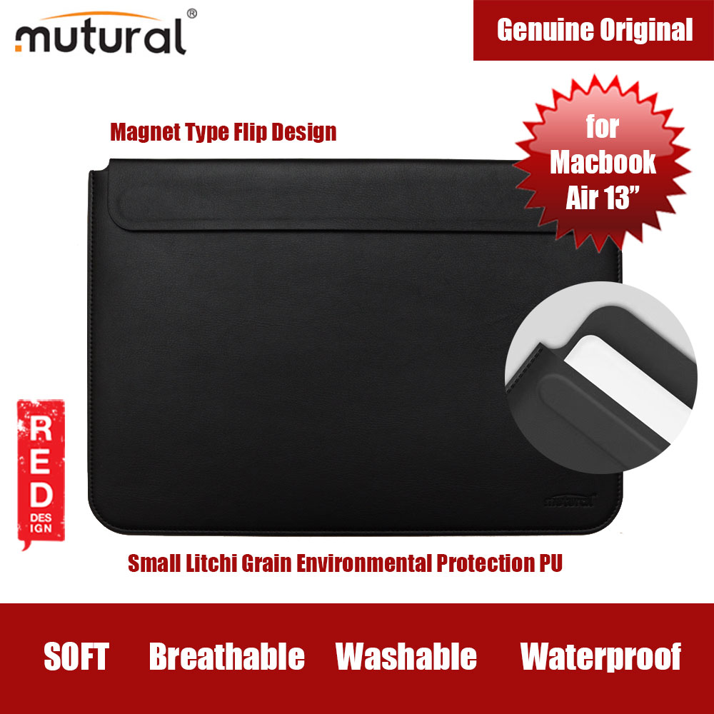 "Picture of Mutural Macbook PU Sleeve for Macbook Air 13"" (Black) Apple Macbook Air 13\""- Apple Macbook Air 13\"" Cases, Apple Macbook Air 13\"" Covers, iPad Cases and a wide selection of Apple Macbook Air 13\"" Accessories in Malaysia, Sabah, Sarawak and Singapore"