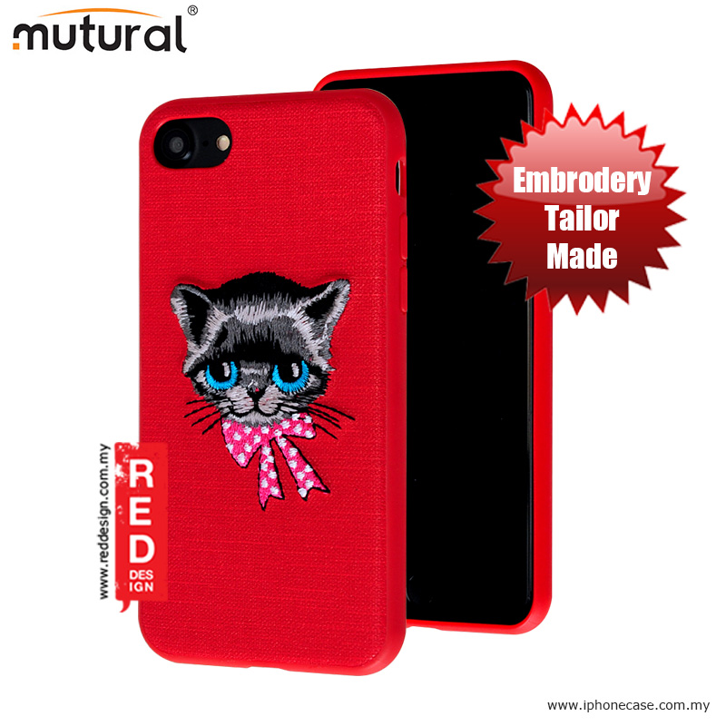 Picture of Mutural Design Embroidery Fashion Artwork Back Case for Apple iPhone 7 iPhone 8 4.7 - Cat Red Apple iPhone 8- Apple iPhone 8 Cases, Apple iPhone 8 Covers, iPad Cases and a wide selection of Apple iPhone 8 Accessories in Malaysia, Sabah, Sarawak and Singapore