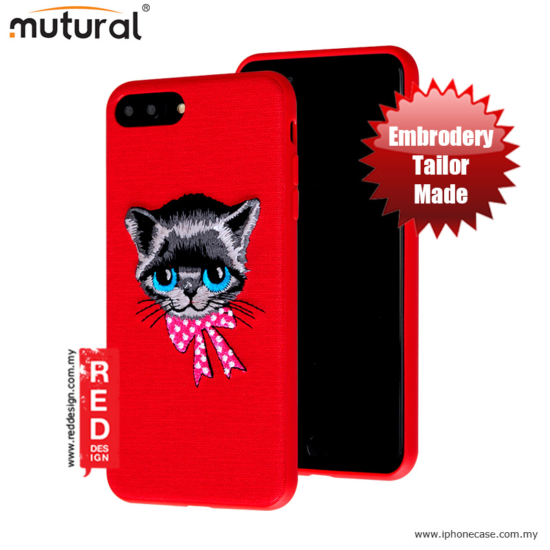 Picture of Mutural Design Embroidery Fashion Artwork Back Case for Apple iPhone 7 Plus iPhone 8 Plus 5.5 - Cat Red Apple iPhone 8 Plus- Apple iPhone 8 Plus Cases, Apple iPhone 8 Plus Covers, iPad Cases and a wide selection of Apple iPhone 8 Plus Accessories in Malaysia, Sabah, Sarawak and Singapore