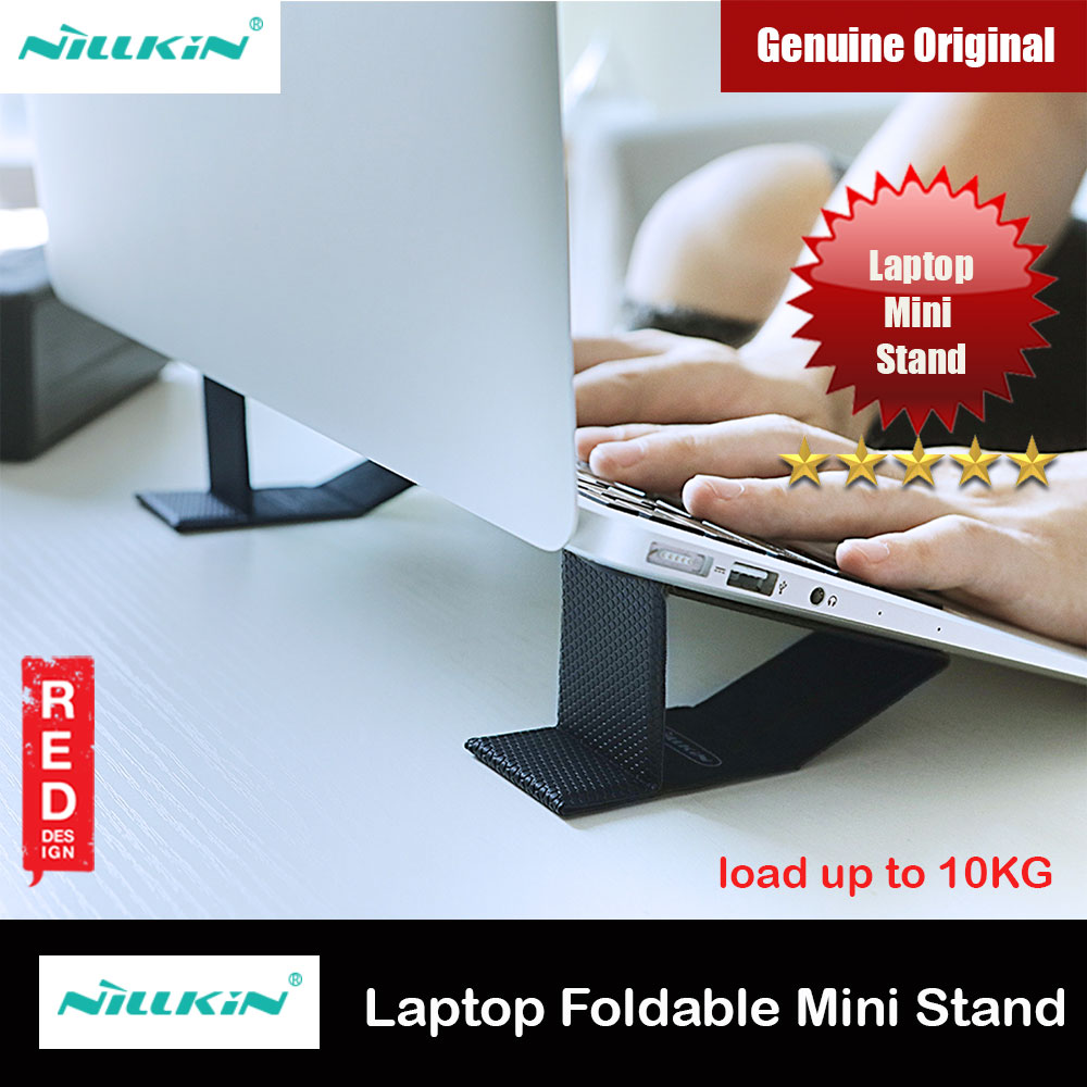 Picture of Nillkin Ascent Mini Stand Mini Laptop Foldable Stand Notebook Macbook Foldable Stand for 11 inches to 15 inches Laptop Notebook Macbook (Black) Red Design- Red Design Cases, Red Design Covers, iPad Cases and a wide selection of Red Design Accessories in Malaysia, Sabah, Sarawak and Singapore