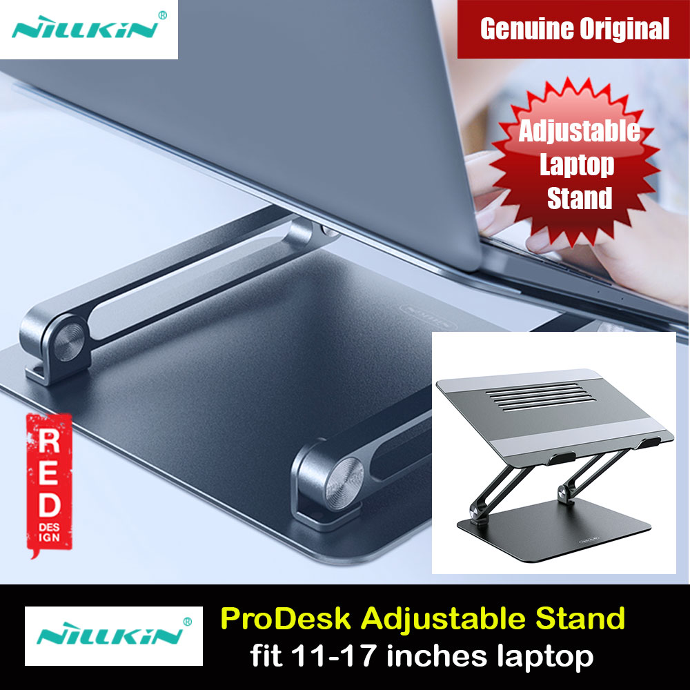 Picture of Nillkin ProDesk Adjustable Height Angle Laptop Stand Laptop Stand Aluminium Laptop Foldable Stand for Apple MacBook Pro Laptops Notebook (Gray) Red Design- Red Design Cases, Red Design Covers, iPad Cases and a wide selection of Red Design Accessories in Malaysia, Sabah, Sarawak and Singapore