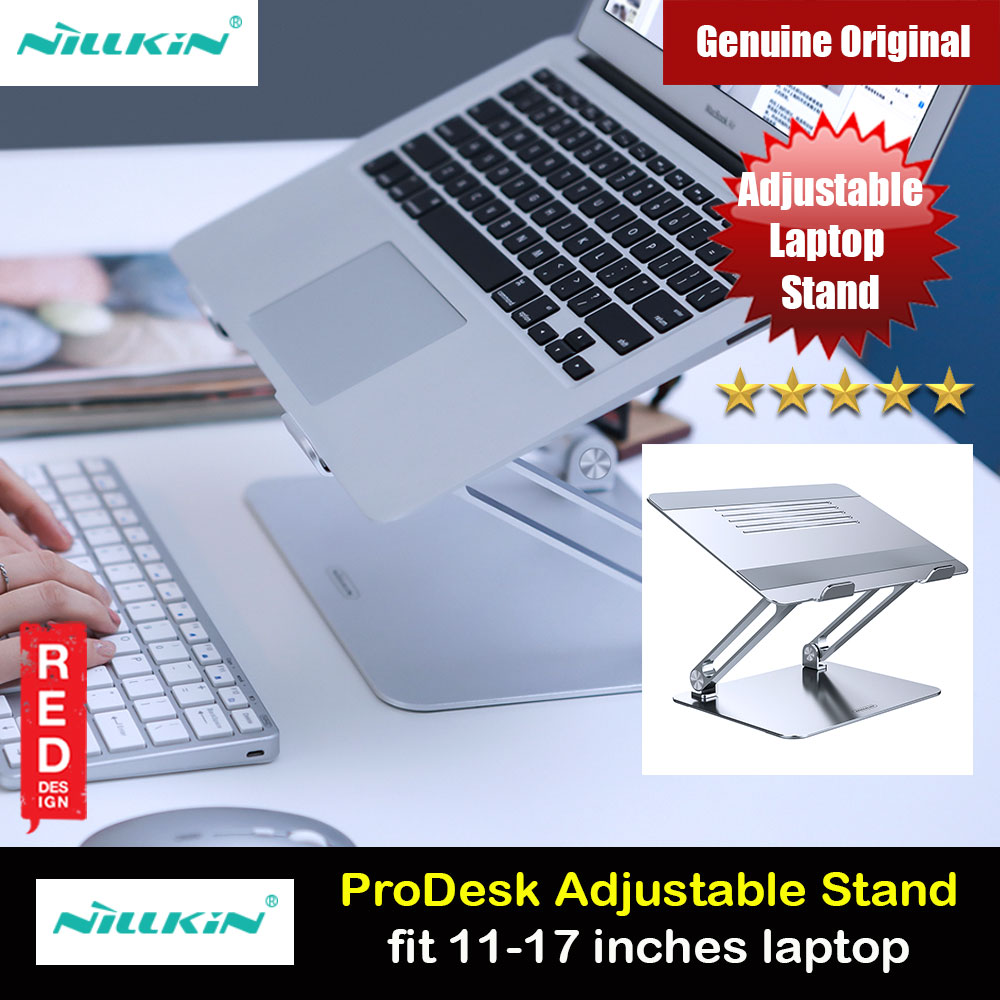 Picture of Nillkin ProDesk Adjustable Height Angle Laptop Stand Laptop Stand Aluminium Laptop Foldable Stand for Apple MacBook Pro Laptops Notebook (Silver) Red Design- Red Design Cases, Red Design Covers, iPad Cases and a wide selection of Red Design Accessories in Malaysia, Sabah, Sarawak and Singapore