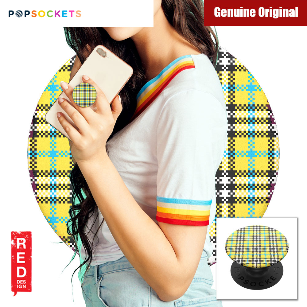 Picture of Popsockets A Phone Grip A Phone Stand An Earbud Management System (Yellow Tartan) Red Design- Red Design Cases, Red Design Covers, iPad Cases and a wide selection of Red Design Accessories in Malaysia, Sabah, Sarawak and Singapore