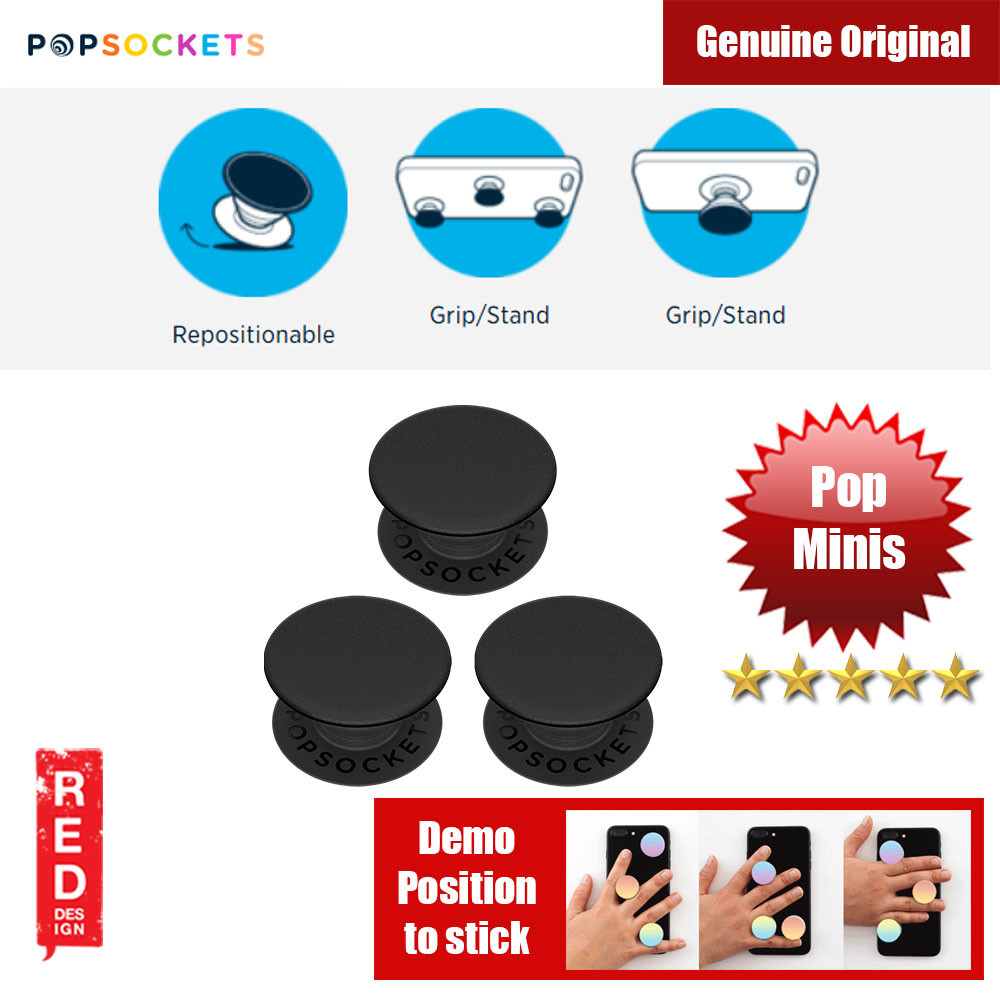 Picture of Popsockets PopMinis Triple (Black) Red Design- Red Design Cases, Red Design Covers, iPad Cases and a wide selection of Red Design Accessories in Malaysia, Sabah, Sarawak and Singapore