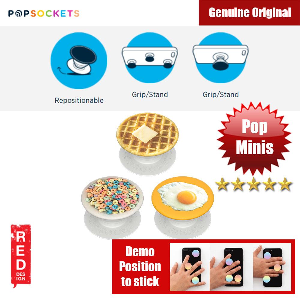 Picture of Popsockets PopMinis Triple (Breakfast Club) Red Design- Red Design Cases, Red Design Covers, iPad Cases and a wide selection of Red Design Accessories in Malaysia, Sabah, Sarawak and Singapore