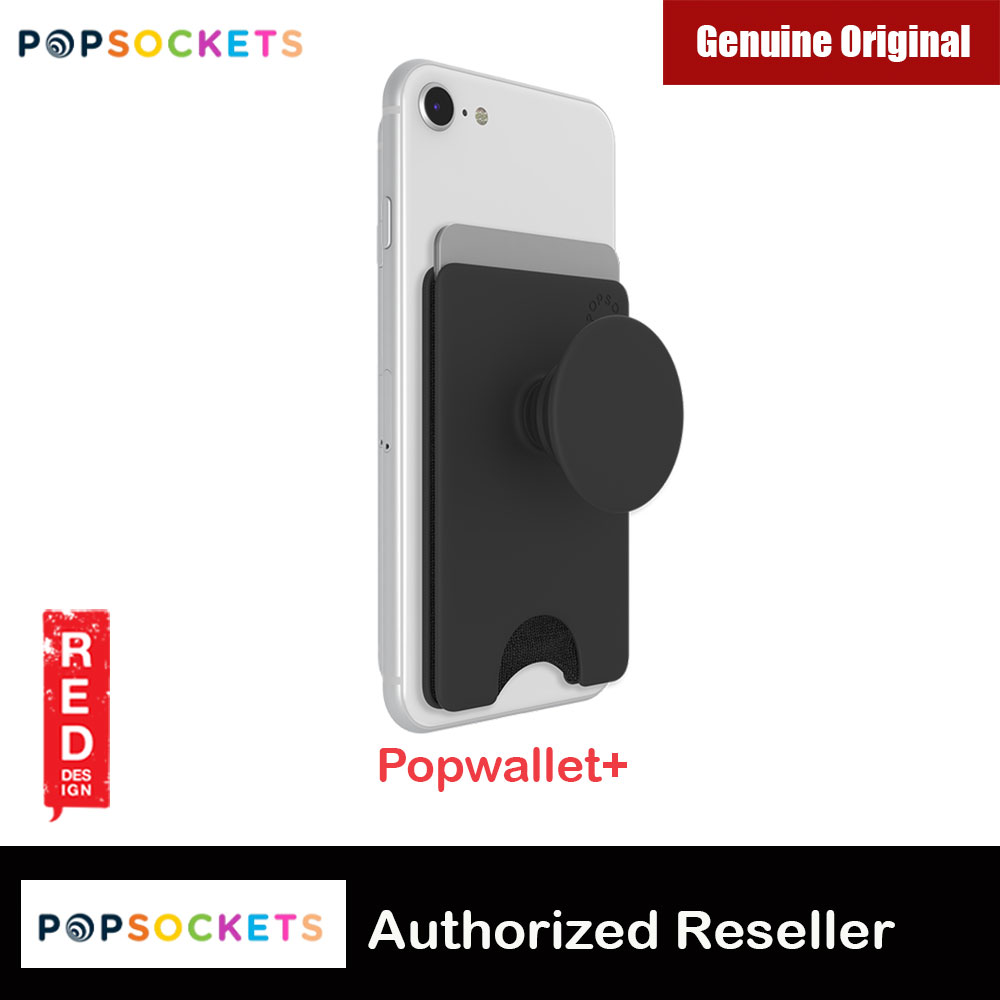Picture of Popsocket Popwallet Plus Card Holder Credit Card Holder Parking Ticket Holder Card Wallet (Black) Red Design- Red Design Cases, Red Design Covers, iPad Cases and a wide selection of Red Design Accessories in Malaysia, Sabah, Sarawak and Singapore