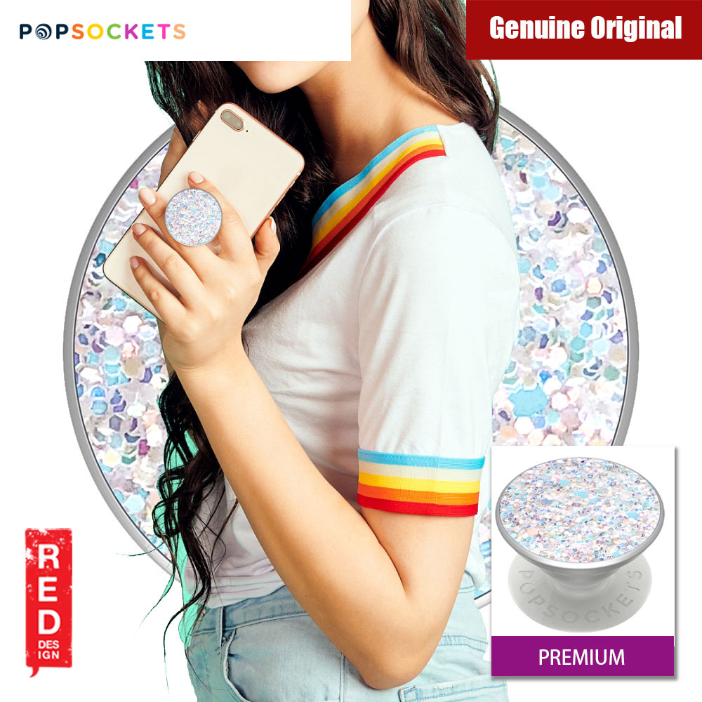 Picture of Popsockets A Phone Grip A Phone Stand An Earbud Management System (Premium Sparkle Snow White) Red Design- Red Design Cases, Red Design Covers, iPad Cases and a wide selection of Red Design Accessories in Malaysia, Sabah, Sarawak and Singapore