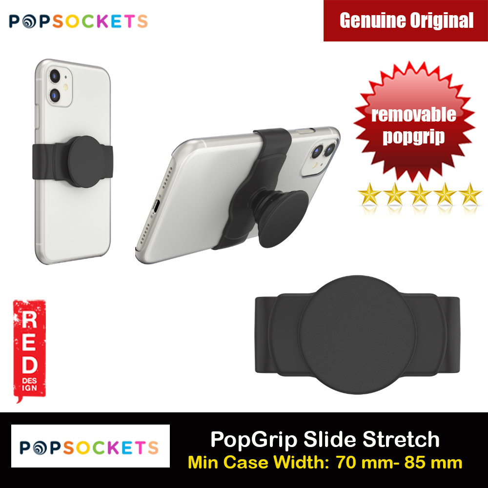 Picture of Popsockets PopGrip Slide Stretch Portable Detachable Phone Stand Phone Grip Holder (Black) Red Design- Red Design Cases, Red Design Covers, iPad Cases and a wide selection of Red Design Accessories in Malaysia, Sabah, Sarawak and Singapore