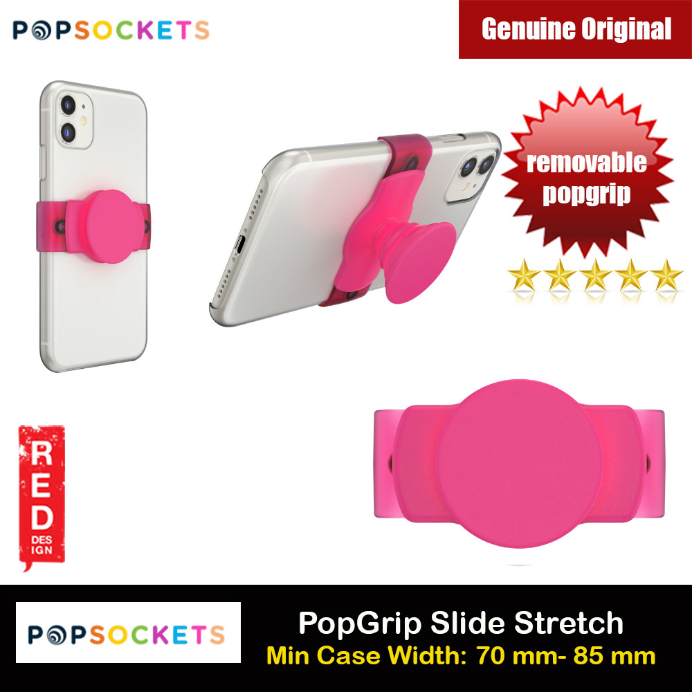 Picture of Popsockets PopGrip Slide Stretch Portable Detachable Phone Stand Phone Grip Holder (Pink) Red Design- Red Design Cases, Red Design Covers, iPad Cases and a wide selection of Red Design Accessories in Malaysia, Sabah, Sarawak and Singapore