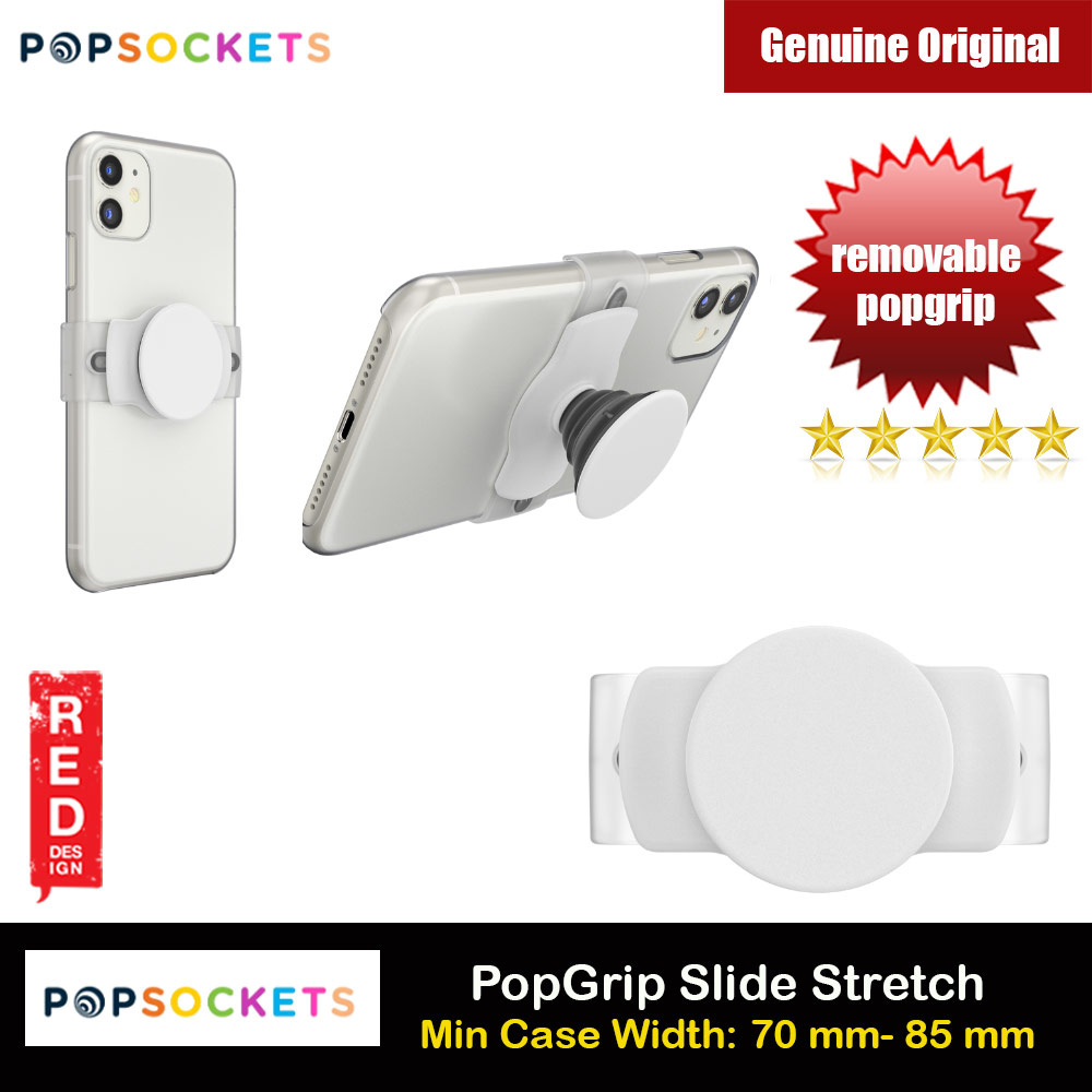 Picture of Popsockets PopGrip Slide Stretch Portable Detachable Phone Stand Phone Grip Holder (White) Red Design- Red Design Cases, Red Design Covers, iPad Cases and a wide selection of Red Design Accessories in Malaysia, Sabah, Sarawak and Singapore