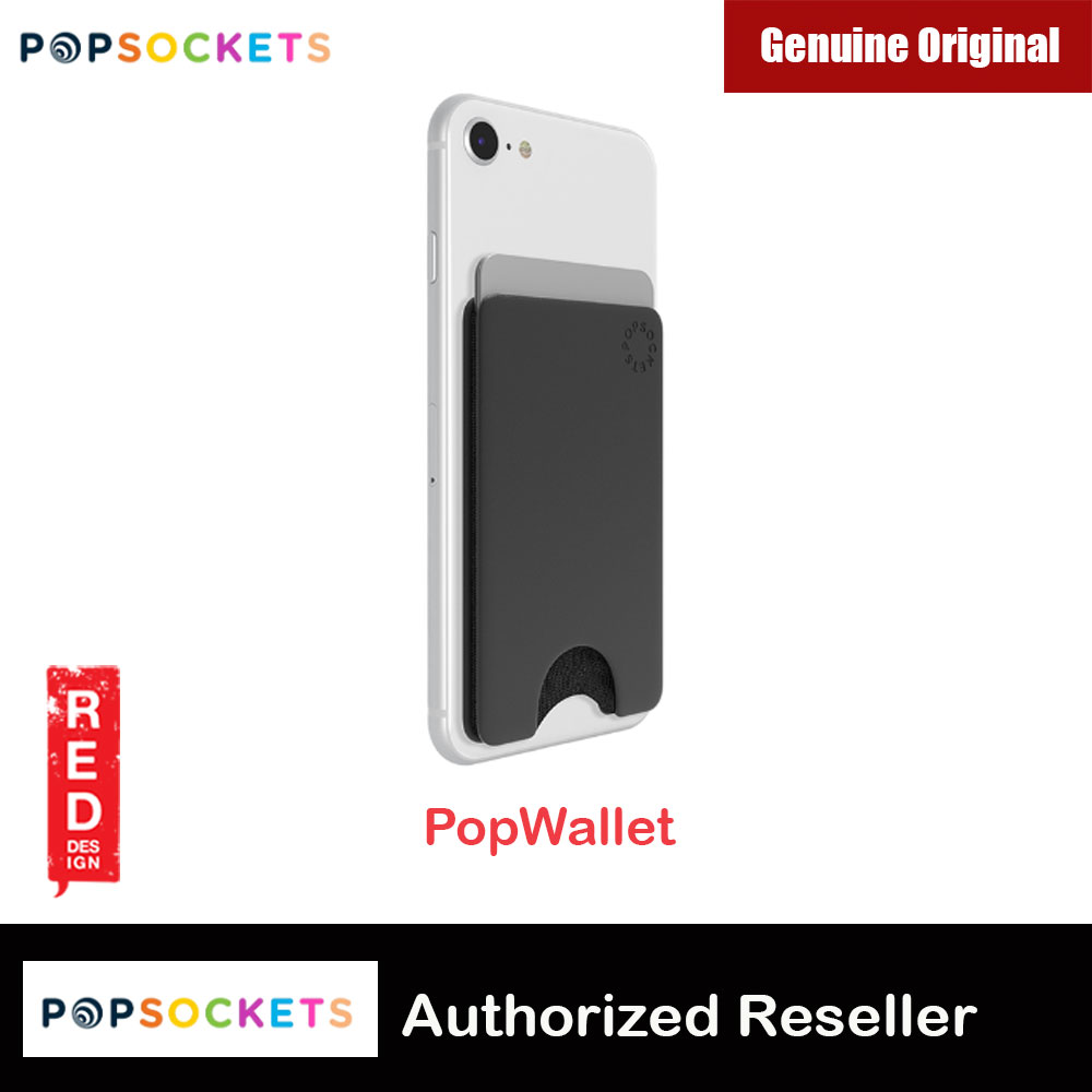 Picture of Popsocket Popwallet Card Holder Credit Card Holder Parking Ticket Holder Card Wallet (Black) Red Design- Red Design Cases, Red Design Covers, iPad Cases and a wide selection of Red Design Accessories in Malaysia, Sabah, Sarawak and Singapore