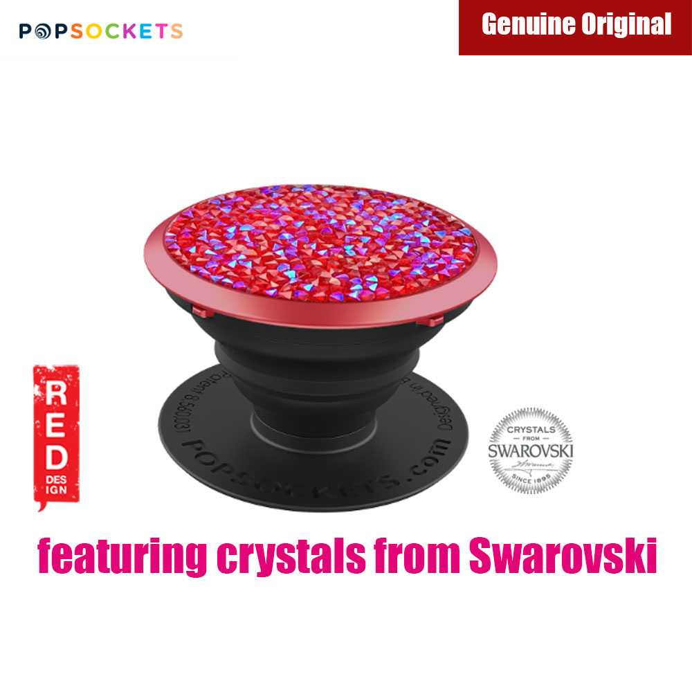 Picture of Popsockets A Phone Grip A Phone Stand An Earbud Management System Crystals from Swarovski (Siam Red Crystal) Red Design- Red Design Cases, Red Design Covers, iPad Cases and a wide selection of Red Design Accessories in Malaysia, Sabah, Sarawak and Singapore