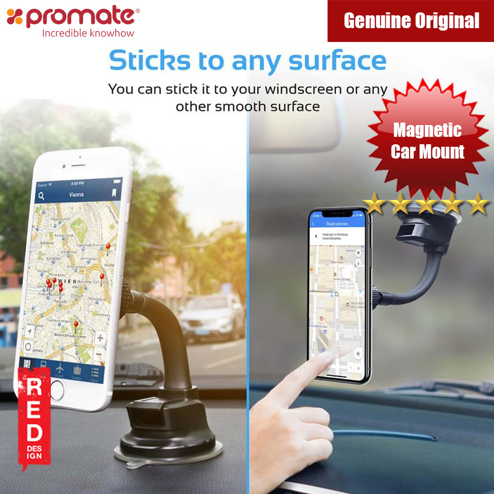Picture of Promate Universal Anti Slip Magnetic Car Dashboard Windscreen Mount (Black) Red Design- Red Design Cases, Red Design Covers, iPad Cases and a wide selection of Red Design Accessories in Malaysia, Sabah, Sarawak and Singapore