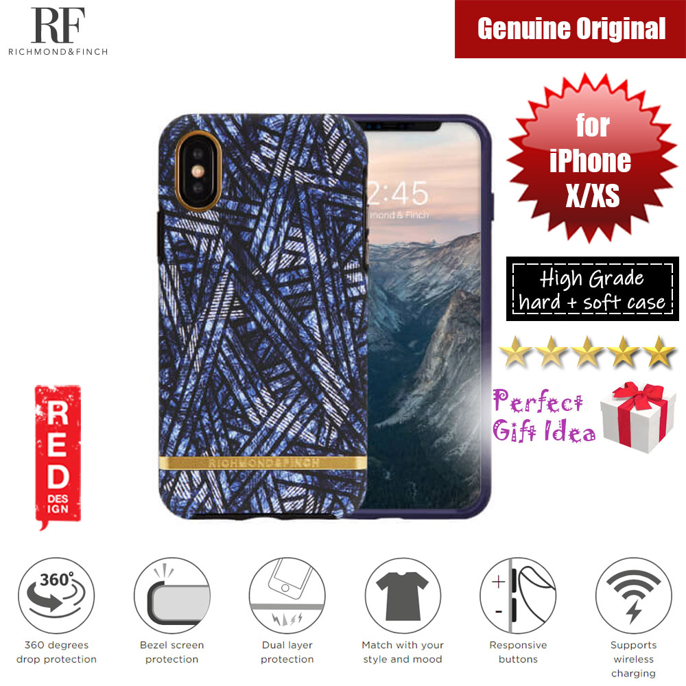 Picture of Richmond and Finch unique design protection case for Apple iPhone X iPhone XS (Blue Denim Matte Surface) Apple iPhone X- Apple iPhone X Cases, Apple iPhone X Covers, iPad Cases and a wide selection of Apple iPhone X Accessories in Malaysia, Sabah, Sarawak and Singapore