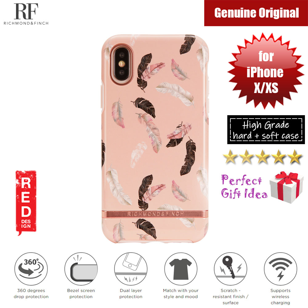 Picture of Richmond and Finch unique design for female protection case for Apple iPhone X iPhone XS (Feathers Glossy Surface) Apple iPhone X- Apple iPhone X Cases, Apple iPhone X Covers, iPad Cases and a wide selection of Apple iPhone X Accessories in Malaysia, Sabah, Sarawak and Singapore