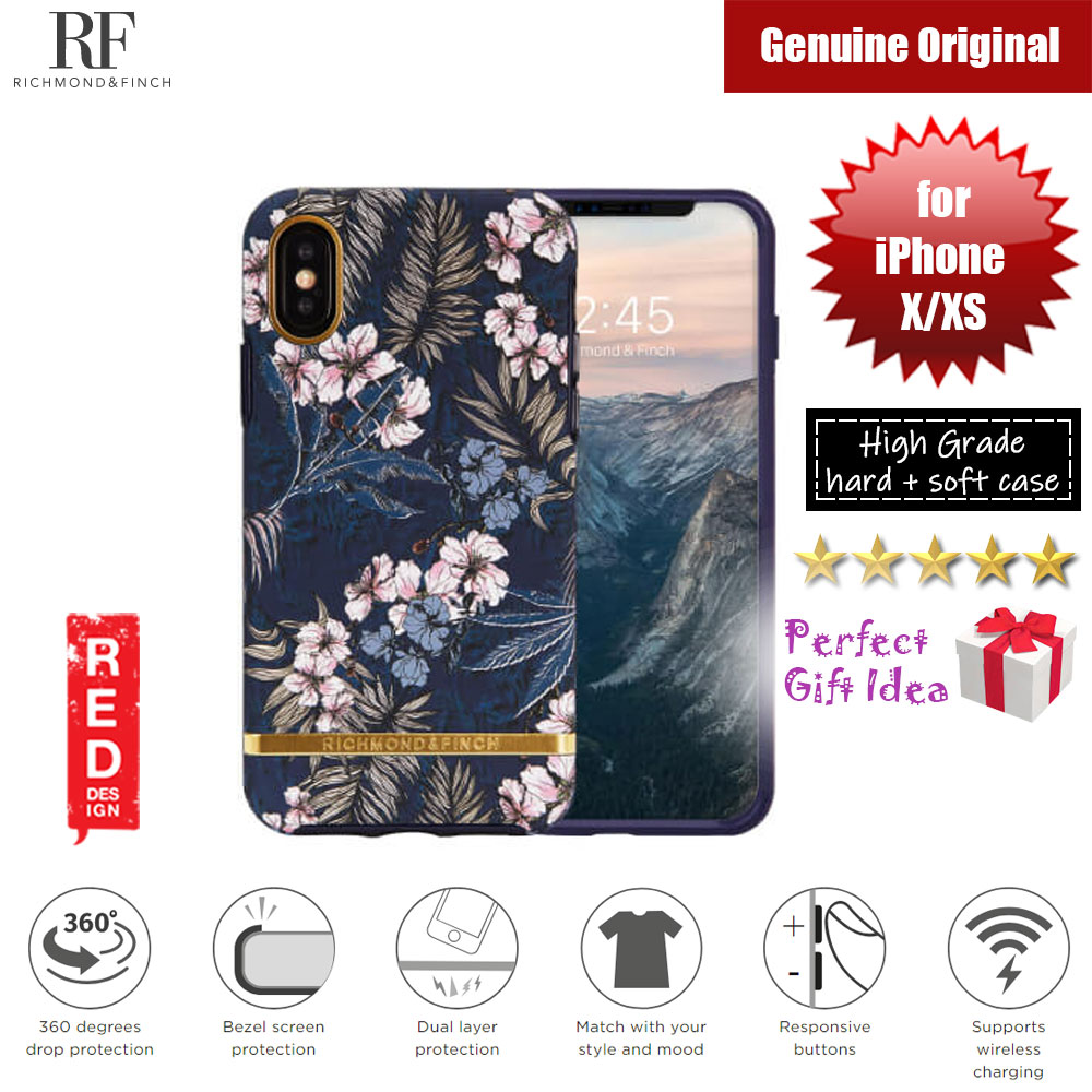 Picture of Richmond and Finch unique design for female protection case for Apple iPhone X iPhone XS (Floral Jungle Matte Surface) Apple iPhone X- Apple iPhone X Cases, Apple iPhone X Covers, iPad Cases and a wide selection of Apple iPhone X Accessories in Malaysia, Sabah, Sarawak and Singapore