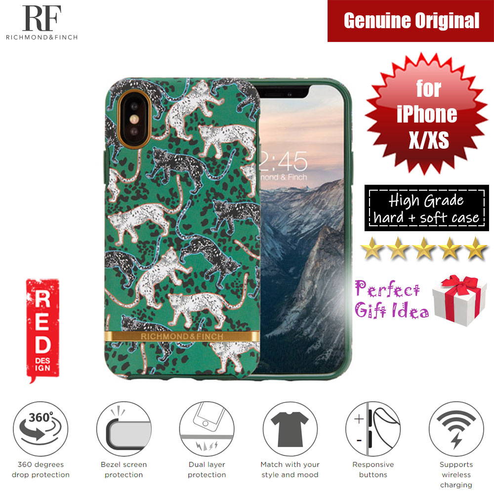 Picture of Richmond and Finch unique design protection case for Apple iPhone X iPhone XS (Green Leopard Matte Surface) Apple iPhone X- Apple iPhone X Cases, Apple iPhone X Covers, iPad Cases and a wide selection of Apple iPhone X Accessories in Malaysia, Sabah, Sarawak and Singapore