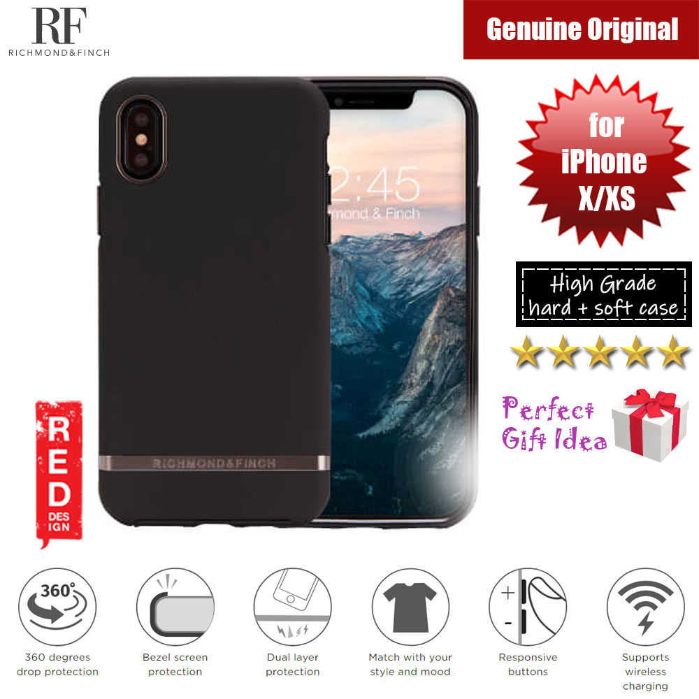 Picture of Richmond and Finch unique design protection case for Apple iPhone X iPhone XS (Black Out Matte Surface) Apple iPhone X- Apple iPhone X Cases, Apple iPhone X Covers, iPad Cases and a wide selection of Apple iPhone X Accessories in Malaysia, Sabah, Sarawak and Singapore