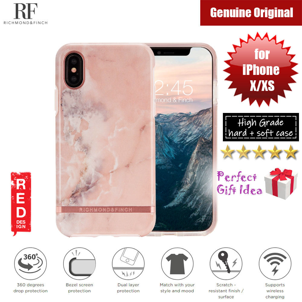 Picture of Richmond and Finch unique design for female protection case for Apple iPhone X iPhone XS (Pink Marble Glossy Surface) Apple iPhone X- Apple iPhone X Cases, Apple iPhone X Covers, iPad Cases and a wide selection of Apple iPhone X Accessories in Malaysia, Sabah, Sarawak and Singapore
