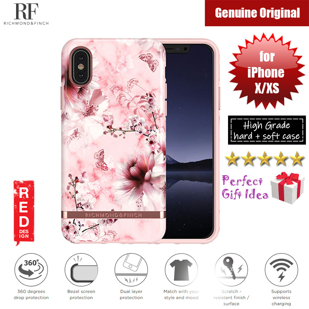 Picture of Richmond and Finch unique design for female protection case for Apple iPhone X iPhone XS (PINK MARBLE FLORAL Glossy Surface) Apple iPhone X- Apple iPhone X Cases, Apple iPhone X Covers, iPad Cases and a wide selection of Apple iPhone X Accessories in Malaysia, Sabah, Sarawak and Singapore