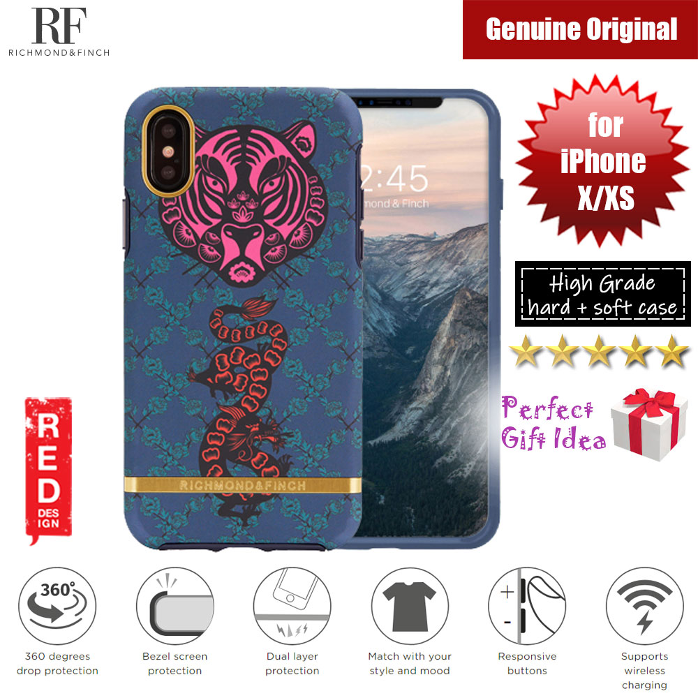 Picture of Richmond and Finch unique design protection case for Apple iPhone X iPhone XS (Tiger and Dragon Matte Surface) Apple iPhone X- Apple iPhone X Cases, Apple iPhone X Covers, iPad Cases and a wide selection of Apple iPhone X Accessories in Malaysia, Sabah, Sarawak and Singapore