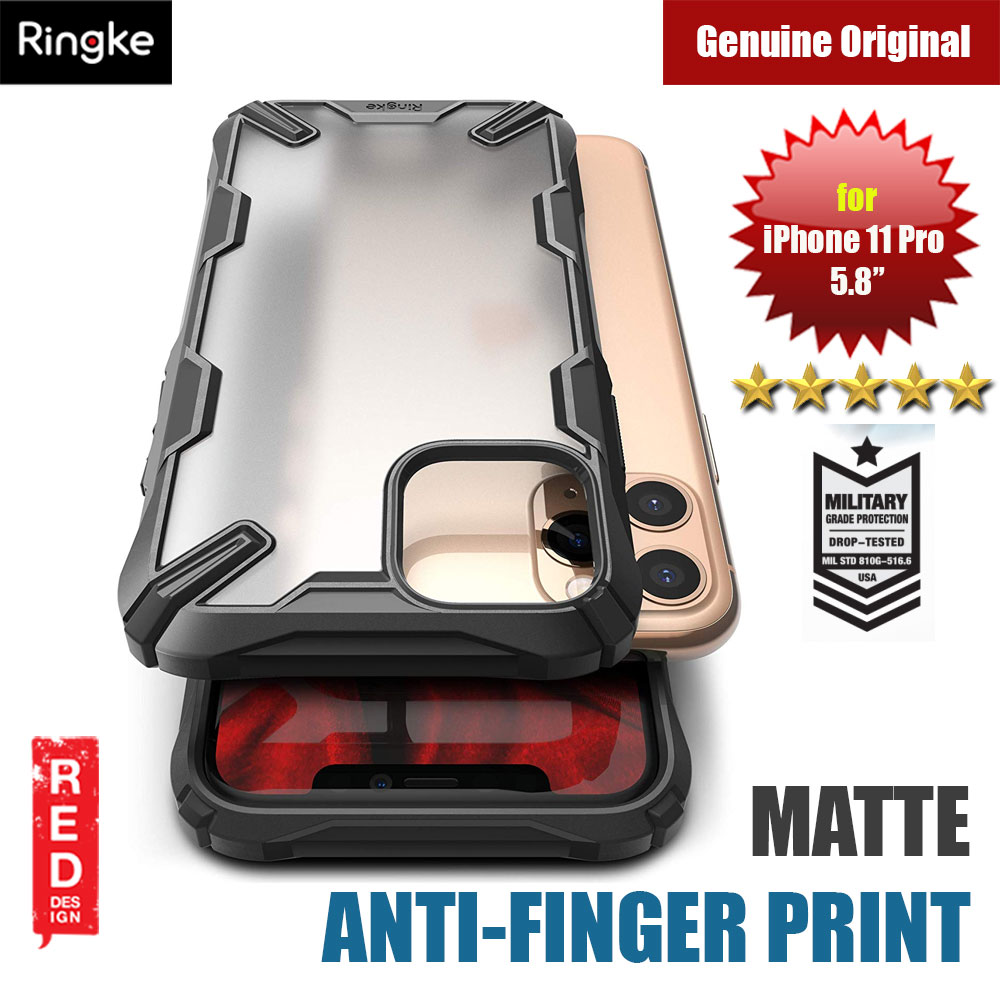 Picture of Ringke Fusion X Matte Anti Fingerprint Extreme Tough Protection for Apple iPhone 11 Pro 5.8 (Matte Black) Apple iPhone 11 Pro 5.8- Apple iPhone 11 Pro 5.8 Cases, Apple iPhone 11 Pro 5.8 Covers, iPad Cases and a wide selection of Apple iPhone 11 Pro 5.8 Accessories in Malaysia, Sabah, Sarawak and Singapore