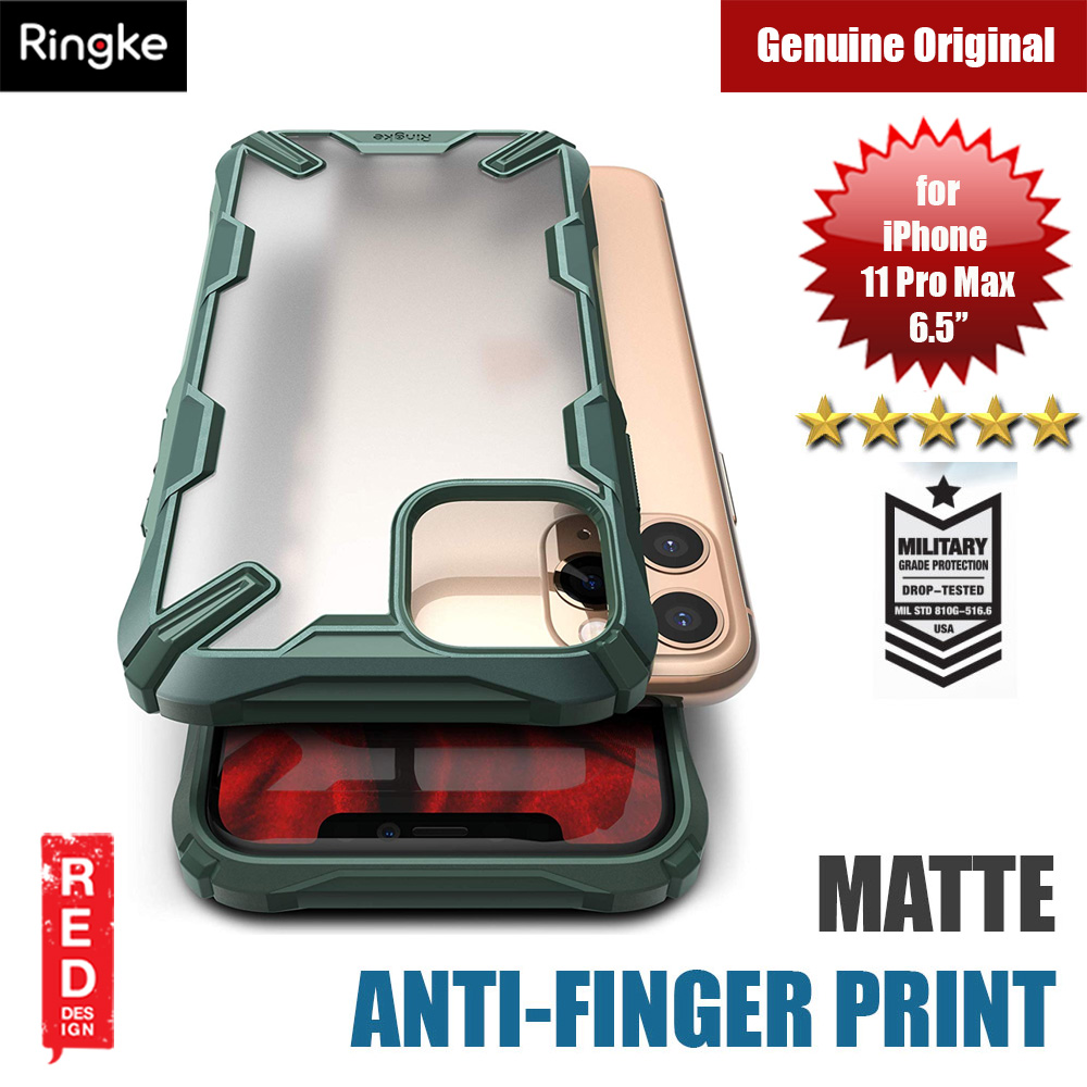 Picture of Ringke Fusion X Matte Anti Fingerprint Extreme Tough Protection for Apple iPhone 11 Pro Max 6.5 (Matte Dark Green) Apple iPhone 11 Pro Max 6.5- Apple iPhone 11 Pro Max 6.5 Cases, Apple iPhone 11 Pro Max 6.5 Covers, iPad Cases and a wide selection of Apple iPhone 11 Pro Max 6.5 Accessories in Malaysia, Sabah, Sarawak and Singapore
