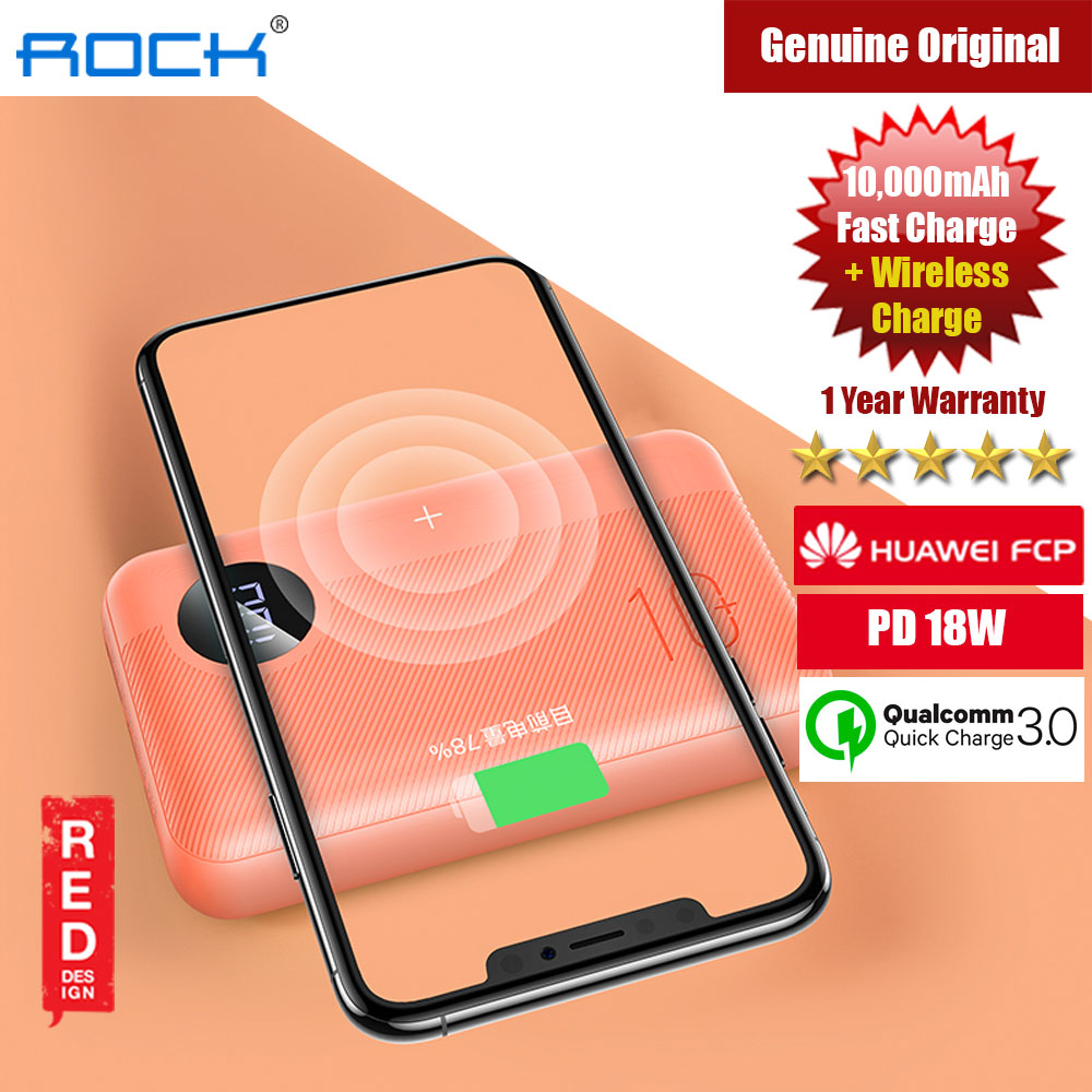 Picture of Rock P75 Mini PD Fast Charge and Wireless Power Bank 10000mah for iPhone Huawei Samsung (Orange) iPhone Cases - iPhone 12, iPhone 12 Pro max, iPhone 11, iPhone 11 Pro Max, iPhone XS Max, iPhone X,iPhone SE,Galaxy Note 20 Ultra ,iPhone 8 Plus Cases Malaysia,iPad Air Pro Cases and a wide selection of Accessories in Malaysia, Sabah, Sarawak and Singapore.