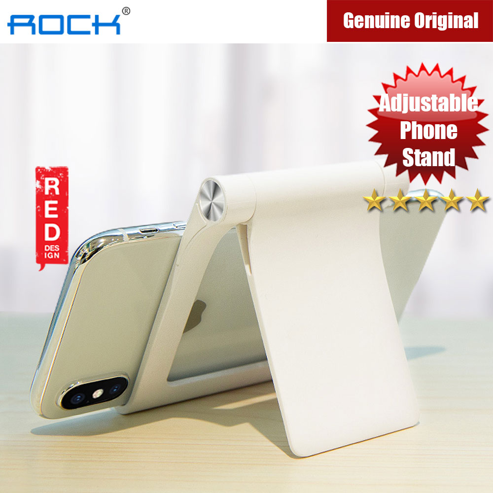 Picture of Rock Adjustable Desktop Phone Tablet Stand (White) iPhone Cases - iPhone 12, iPhone 12 Pro max, iPhone 11, iPhone 11 Pro Max, iPhone XS Max, iPhone X,iPhone SE,Galaxy Note 20 Ultra ,iPhone 8 Plus Cases Malaysia,iPad Air Pro Cases and a wide selection of Accessories in Malaysia, Sabah, Sarawak and Singapore.