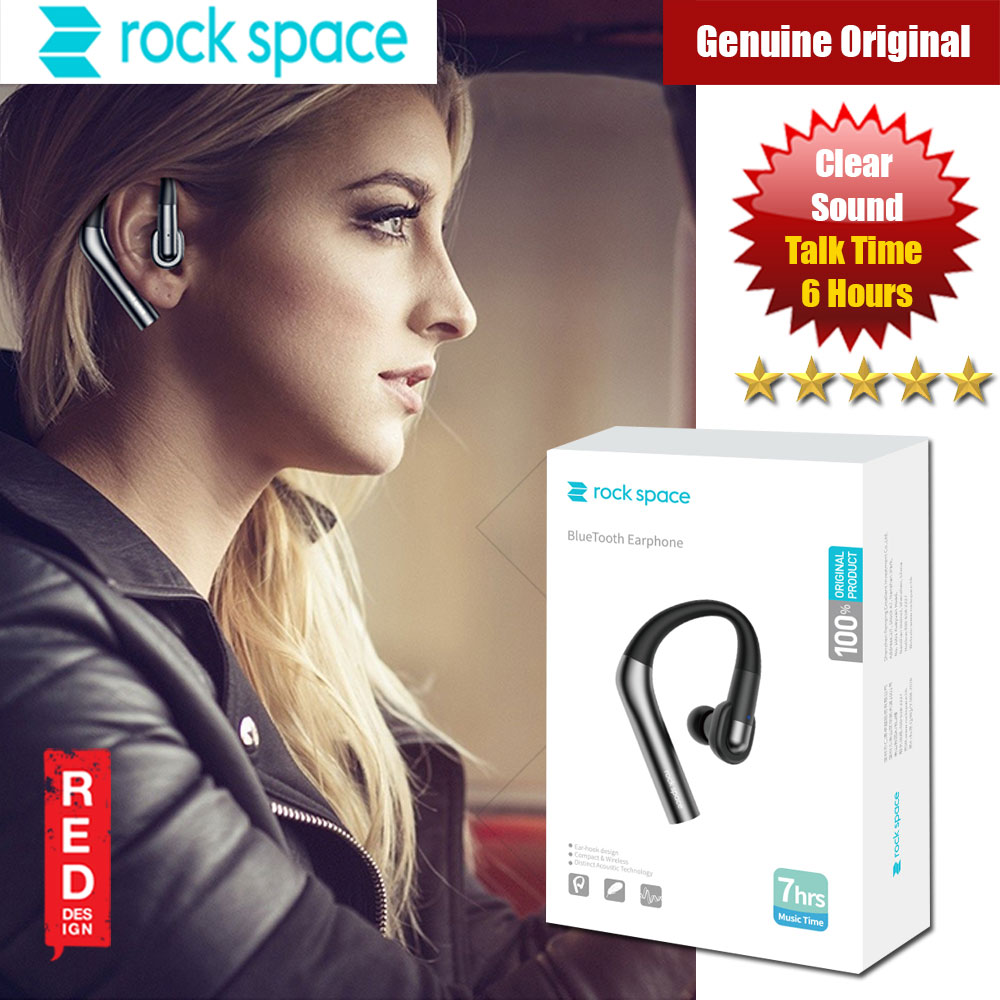 Picture of Rockspace D400 Bluetooth Wireless Earphone with for IOS Android Red Design- Red Design Cases, Red Design Covers, iPad Cases and a wide selection of Red Design Accessories in Malaysia, Sabah, Sarawak and Singapore