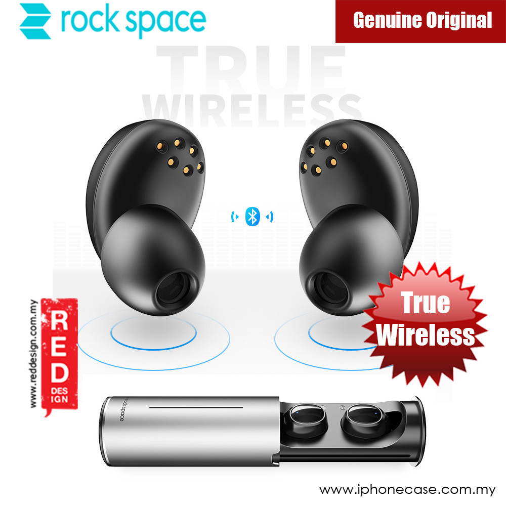 Picture of Rock Space EB50 True Wireless Stereo Earphone (Black) Red Design- Red Design Cases, Red Design Covers, iPad Cases and a wide selection of Red Design Accessories in Malaysia, Sabah, Sarawak and Singapore