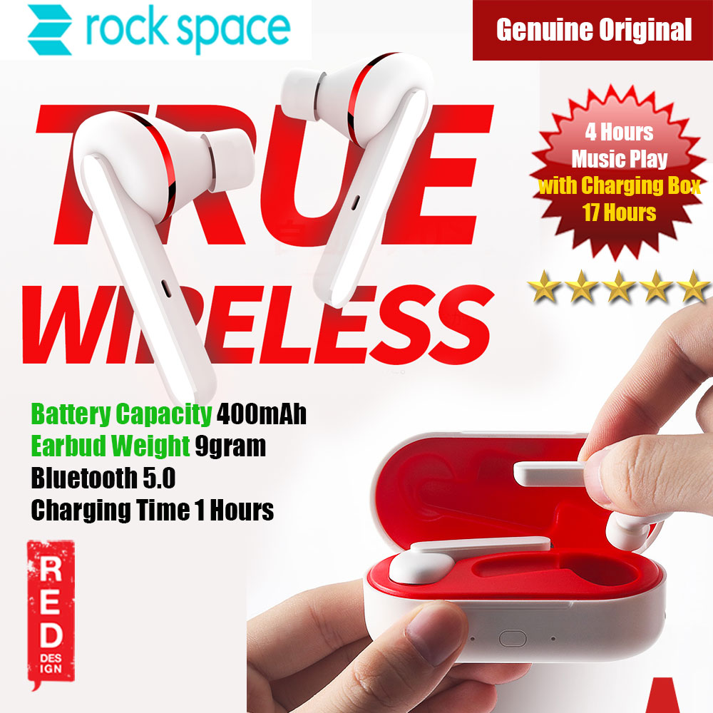 Picture of Rock Space EB70 True Wireless Stereo Earphone (White) Red Design- Red Design Cases, Red Design Covers, iPad Cases and a wide selection of Red Design Accessories in Malaysia, Sabah, Sarawak and Singapore