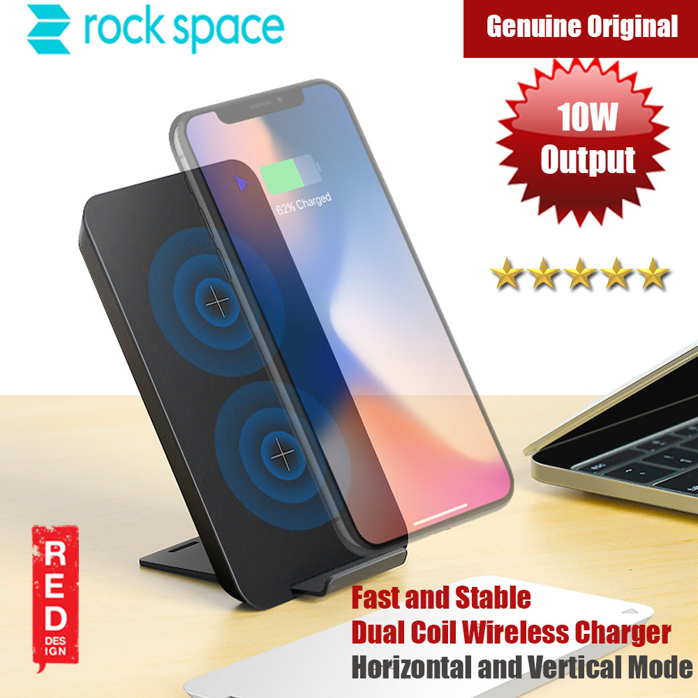 Picture of Rockspace 10W Max Output Fast Wireless Charger Red Design- Red Design Cases, Red Design Covers, iPad Cases and a wide selection of Red Design Accessories in Malaysia, Sabah, Sarawak and Singapore
