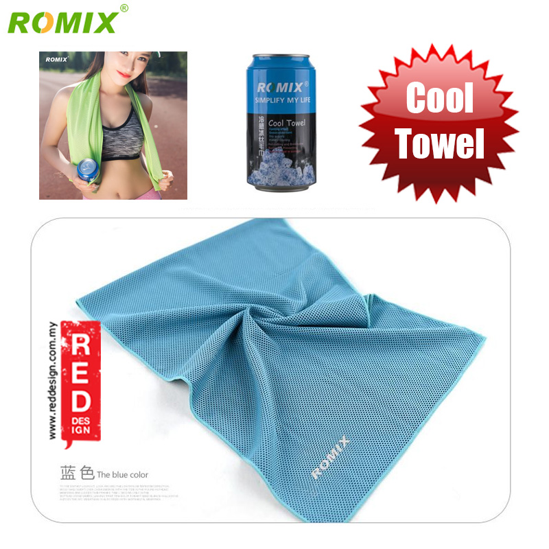 Picture of Romix Instant Cooling Effect Towel - Blue Red Design- Red Design Cases, Red Design Covers, iPad Cases and a wide selection of Red Design Accessories in Malaysia, Sabah, Sarawak and Singapore