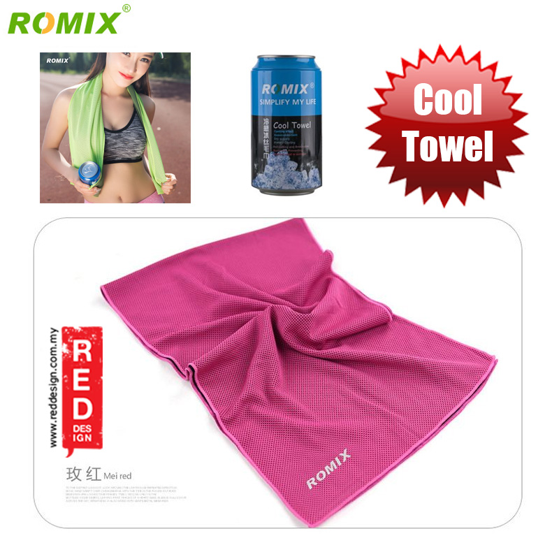 Picture of Romix Instant Cooling Effect Towel - Pink Red Design- Red Design Cases, Red Design Covers, iPad Cases and a wide selection of Red Design Accessories in Malaysia, Sabah, Sarawak and Singapore