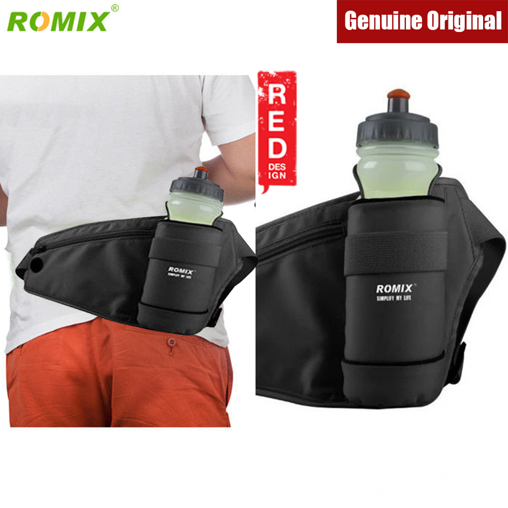 Picture of Romix Waterproof sports waist belt with bottle pockets for running cycling climbing (Black) Red Design- Red Design Cases, Red Design Covers, iPad Cases and a wide selection of Red Design Accessories in Malaysia, Sabah, Sarawak and Singapore