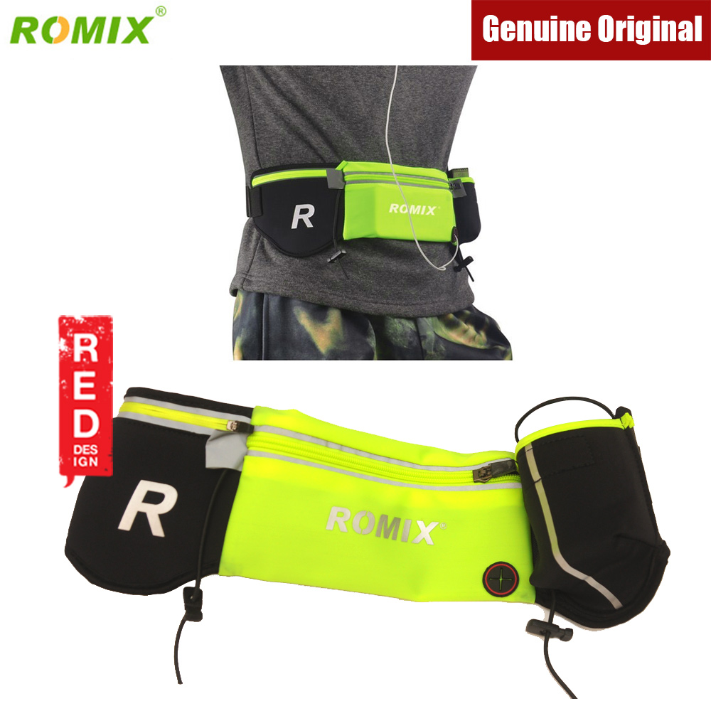Picture of Romix RH42 Zippered Sports Waist Belt Bag for Running Jogging Traveling Red Design- Red Design Cases, Red Design Covers, iPad Cases and a wide selection of Red Design Accessories in Malaysia, Sabah, Sarawak and Singapore