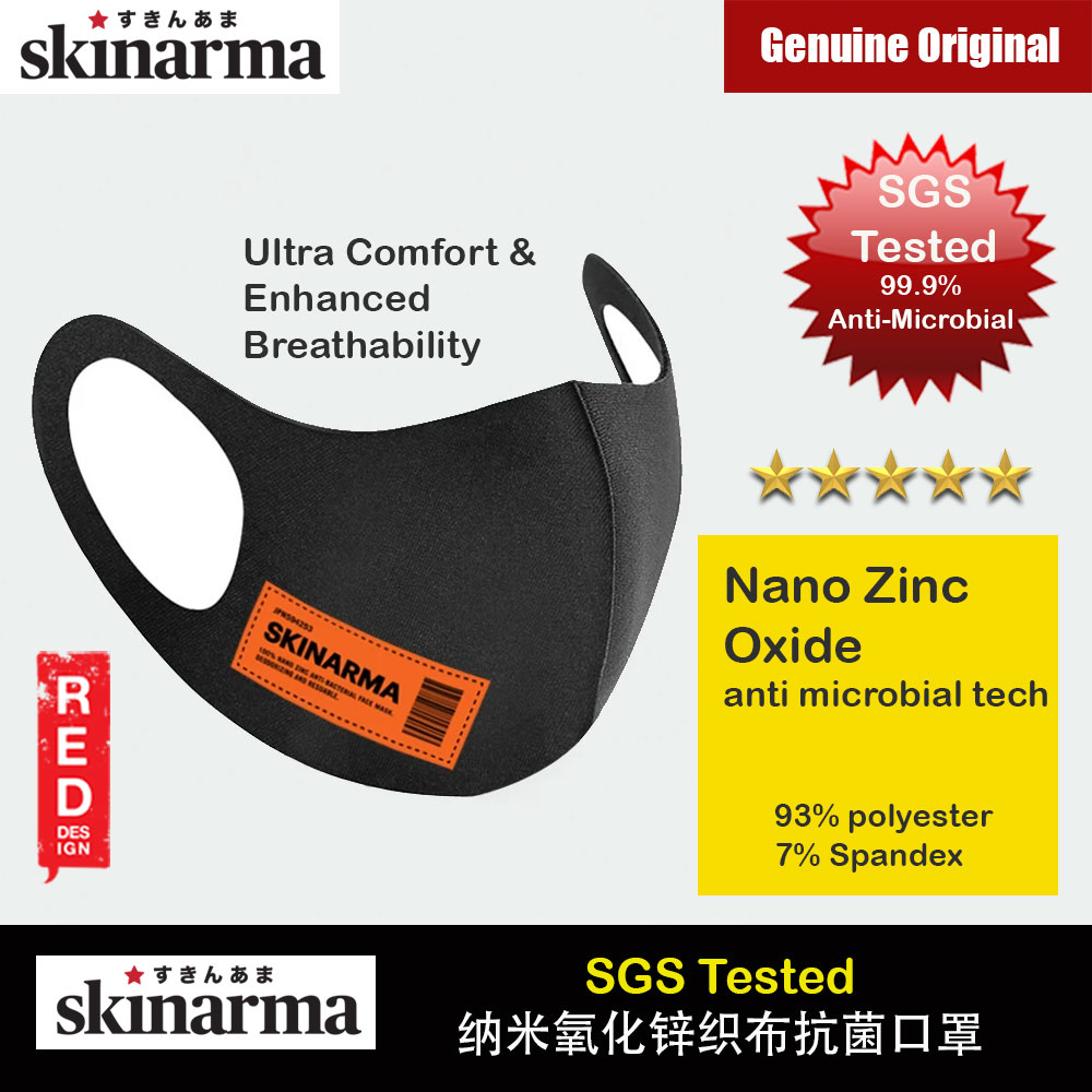 Picture of Skinarma Washable Stretchable Durable Fabric Comfort Fit Nano Zinc Oxide Anti Microbial Tech That Kills 99.9% Airborne Bacteria Reusable Face Mask with Airo Breathe Technology (KOKYU Orange) Red Design- Red Design Cases, Red Design Covers, iPad Cases and a wide selection of Red Design Accessories in Malaysia, Sabah, Sarawak and Singapore