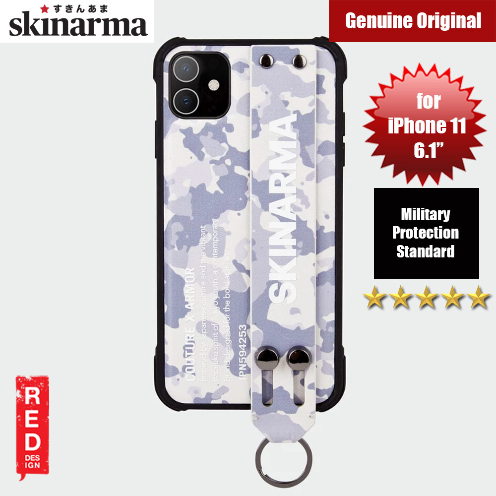 Picture of Skinarma Drop Protection Standable Fashion Case with Strap for Apple iPhone 11 6.1 (Camo Grey) Apple iPhone 11 6.1- Apple iPhone 11 6.1 Cases, Apple iPhone 11 6.1 Covers, iPad Cases and a wide selection of Apple iPhone 11 6.1 Accessories in Malaysia, Sabah, Sarawak and Singapore